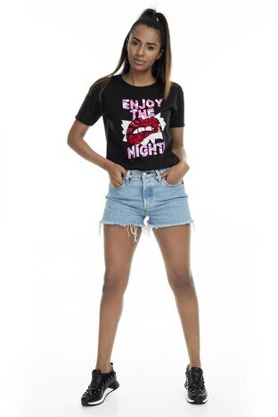 Mint Kadın T Shirt 4245197 SİYAH