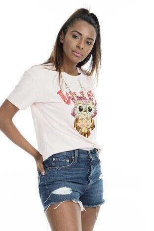 MİNT - Mint Kadın T Shirt 4245242 PEMBE