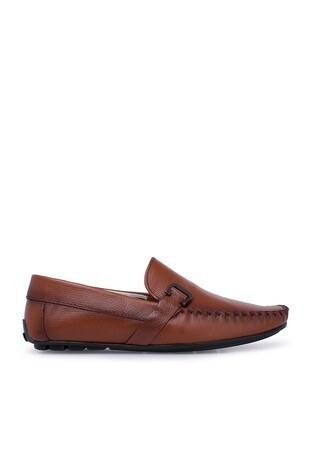 Navigli - Navigli Hakiki Deri Erkek Ayakkabı 56442310B TABA