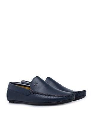 Navigli Hakiki Deri Erkek Ayakkabı 56442313B LACİVERT
