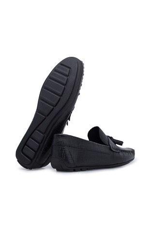 Navigli Hakiki Deri Erkek Ayakkabı 56442314HA SİYAH