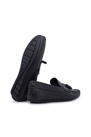 Navigli Hakiki Deri Erkek Ayakkabı 56442314KA SİYAH