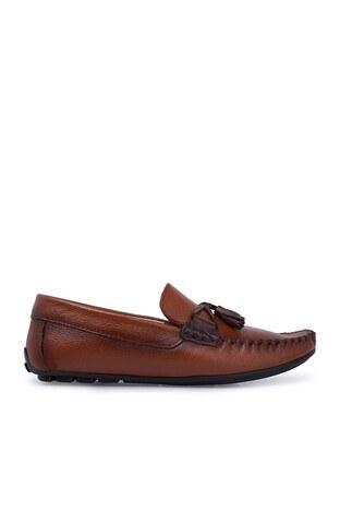 Navigli - Navigli Hakiki Deri Erkek Ayakkabı 56442316B TABA