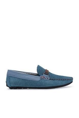 Navigli Hakiki Deri Erkek Ayakkabı 56442320SB MAVİ