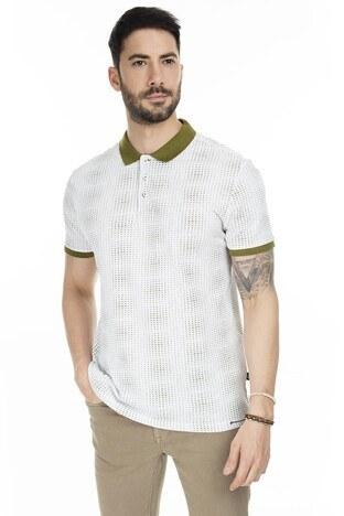 Navigli T Shirt Erkek Polo 5273DSN10 BEYAZ-YEŞİL