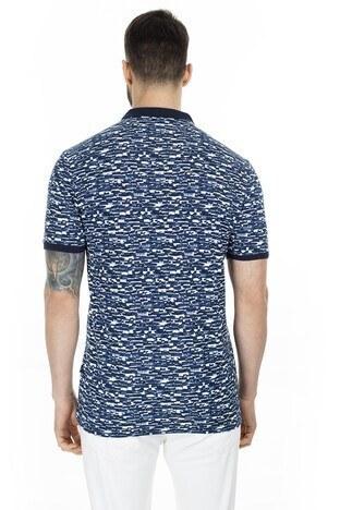 Navigli T Shirt Erkek Polo 5273DSN27 LACİVERT-BEYAZ