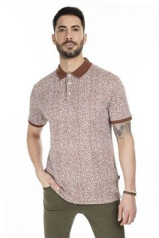 Navigli T Shirt Erkek Polo 5273DSN36 Beyaz-Tarçın