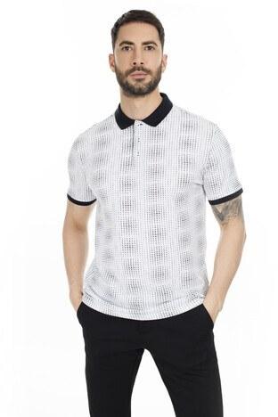 Navigli Yaka T Shirt Erkek Polo 5273DSN11 BEYAZ-SİYAH
