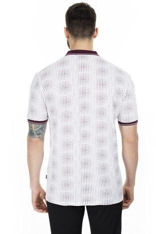 Navigli Yaka T Shirt Erkek Polo 5273DSN12 BEYAZ-BORDO