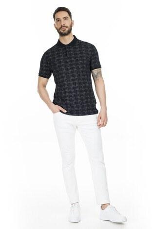 Navigli Yaka T Shirt Erkek Polo 5273DSN14 SİYAH-GRİ