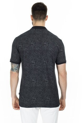Navigli Yaka T Shirt Erkek Polo 5273DSN17 SİYAH-GRİ
