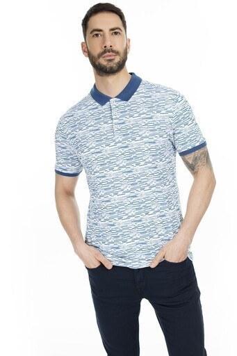Navigli Yaka T Shirt Erkek Polo 5273DSN18 İNDİGO-BEYAZ