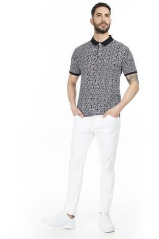 Navigli Yaka T Shirt Erkek Polo 5273DSN22 SİYAH-BEYAZ