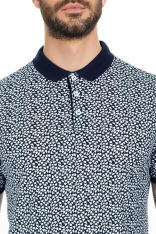 Navigli Yaka T Shirt Erkek Polo 5273DSN23 BEYAZ-LACİVERT