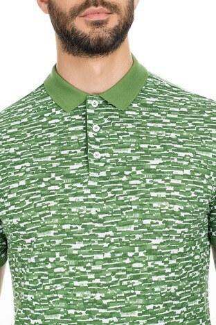 Navigli Yaka T Shirt Erkek Polo 5273DSN26 YEŞİL-BEYAZ