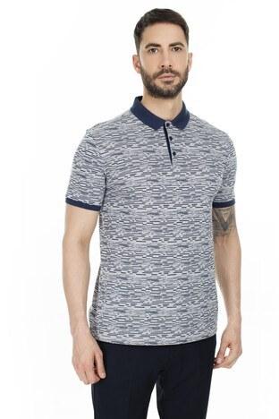 Navigli Yaka T Shirt Erkek Polo 5273DSN29A GRİ-LACİVERT