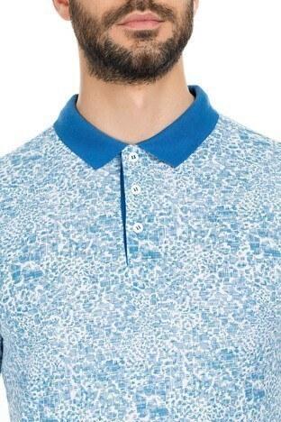 Navigli Yaka T Shirt Erkek Polo 5273DSN30 BEYAZ-AÇIK MAVİ