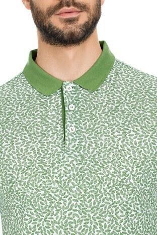 Navigli Yaka T Shirt Erkek Polo 5273DSN37 YEŞİL-BEYAZ