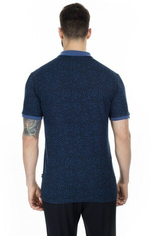 Navigli Yaka T Shirt Erkek Polo 5273DSN4 LACİVERT-İNDİGO