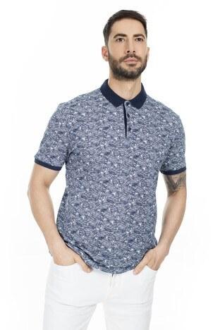 Navigli - Navigli Yaka T Shirt Erkek Polo 5273DSN5 LACİVERT-BEYAZ