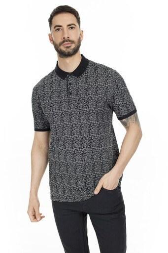 Navigli Yaka T Shirt Erkek Polo 5273DSN6 SİYAH-GRİ