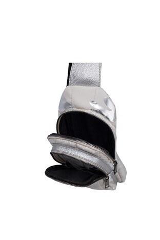 Oggo İki Bölmeli Bel ve Sırt Bayan Çanta OY2092BODY Bej-Gümüş