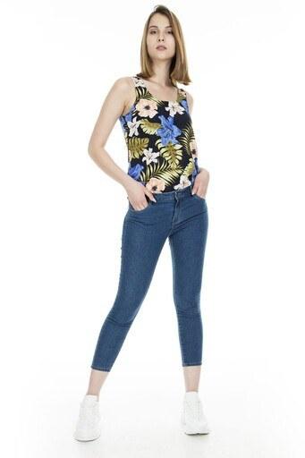 Only Onlamaze Jeans Bayan Kot Pantolon 15181526 MAVİ