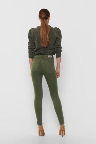 Only Onlblush Pamuklu Skinny Fit Jeans Bayan Kot Pantolon 15183652 HAKİ