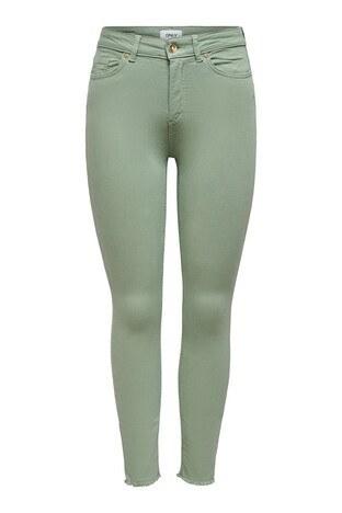 Only Onlblush Pamuklu Skinny Fit Jeans Bayan Kot Pantolon 15183652 YEŞİL