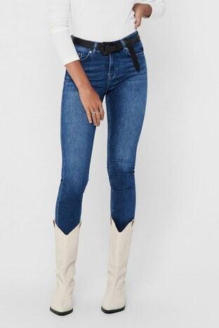 Only Onlblush Skinny Dar Paça Pamuklu Jeans Bayan Kot Pantolon 15209661 MAVİ