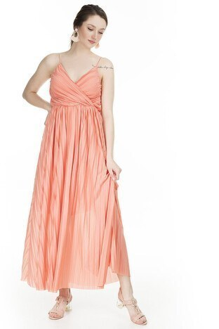 Only - Only Onlelema Maxi Bayan Elbise 15207351 MERCAN