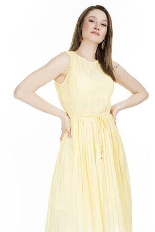 Only - Only Onlelema Midi Bayan Elbise 15201887 SARI