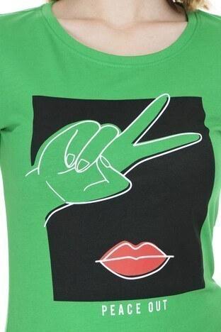 Only Onlfancy Bayan T Shirt 5182747 YEŞİL
