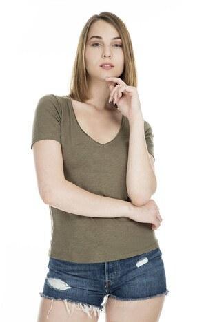 Only Onlfworld Bayan T Shirt 15180561 HAKİ