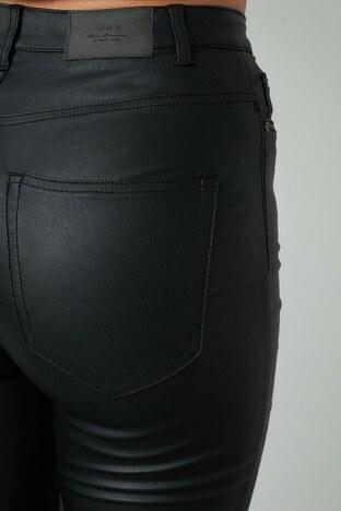 Only Onlgosh Yüksek Bel Skinny Suni Deri Bayan Pantolon 15208305 SİYAH