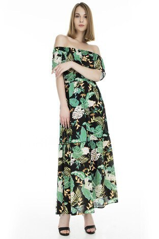 Only - Only Onljona Off Shoulder Bayan Elbise 15176643 SİYAH
