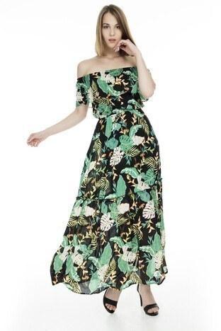 Only Onljona Off Shoulder Bayan Elbise 15176643 SİYAH