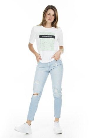 Only Onlmadeline Bayan T Shirt 15206145A EKRU