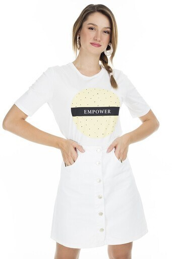 Only Onlmadeline Bayan T Shirt 15206145B EKRU