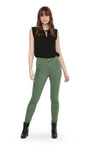 Only - Only Onlmila Jeans Bayan Kot Pantolon 15196981 HAKİ
