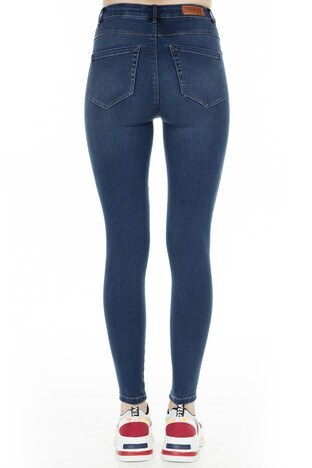 Only Onlmila Skinny Fit Jeans Bayan Kot Pantolon 15181725 KOYU MAVİ