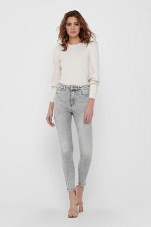 Only Onlmila Yüksek Bel Skinny Fit Jeans Bayan Kot Pantolon 15226109 AÇIK GRİ