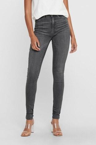 Only Onlpaola Yüksek Bel Skinny Fit Jeans Bayan Kot Pantolon 15170694 GRİ