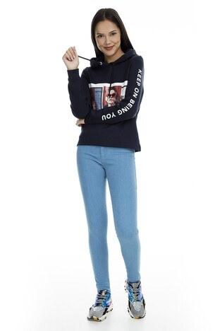 Only - Only Onlrain Jeans Bayan Kot Pantolon 15169356 AÇIK MAVİ