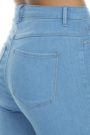 Only Onlrain Jeans Bayan Kot Pantolon 15169356 AÇIK MAVİ