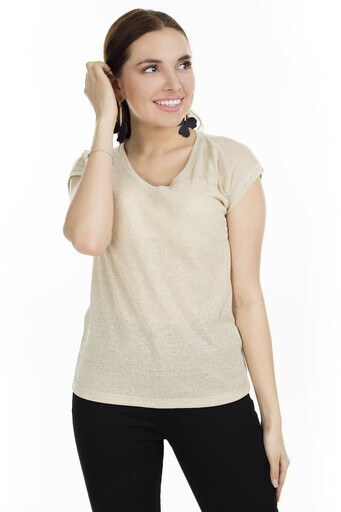 Only V Yaka Onlsilvery Bayan T Shirt 15136069 ALTIN