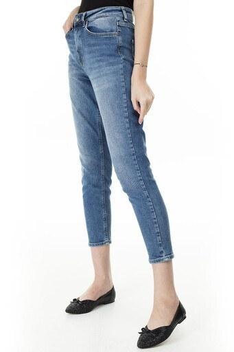 Only Onlveneda Life Mom Jeans Bayan Kot Pantolon 15206610 MAVİ