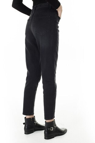 Only Onlveneda Mom Jeans Bayan Kot Pantolon 15210672 SİYAH