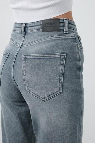 Only Onlveneda Yüksek Bel Pamuklu Mom Jeans Bayan Kot Pantolon 15217562 GRİ