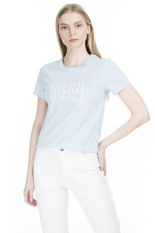 Only Onlweekday Bayan T Shirt 15199799 MAVİ